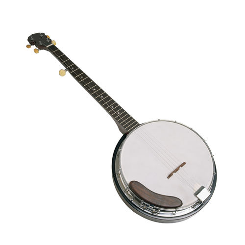 Banjo On White Background