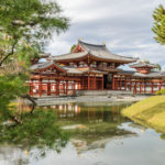 Beautiful Architecture Of Phoenix Hall In Byodo In Temple Which Is A Buddhist Temple In Uji City Kyoto Prefecture Japan