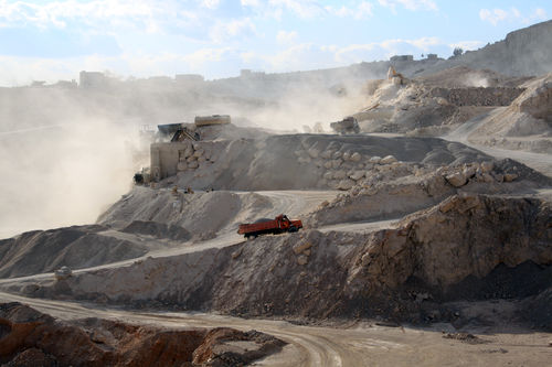Cement Quarry In Mountain Area Syria